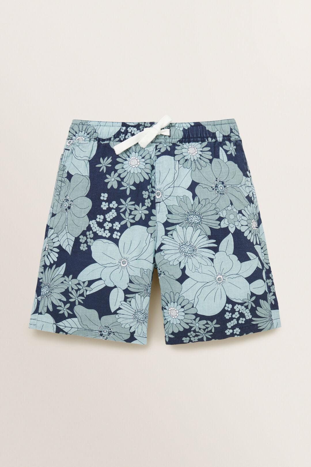 Vintage Floral Short  MIDNIGHT BLUE  hi-res
