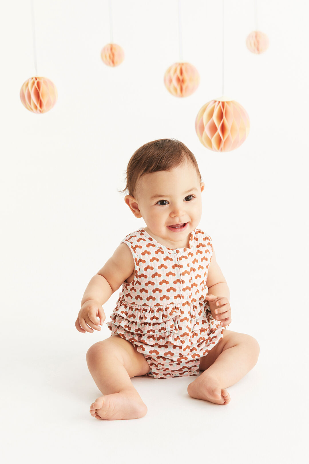 Cheesecloth Floral Onesie  MULTI  hi-res