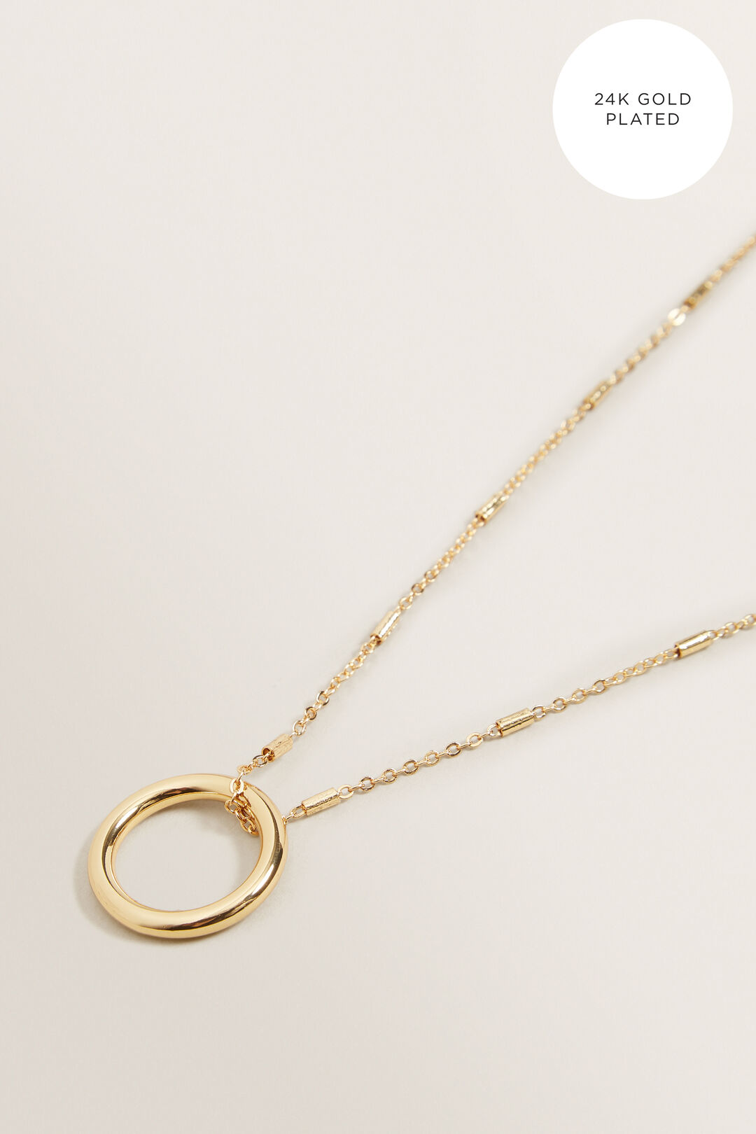 Circle Pendant Necklace  GOLD  hi-res