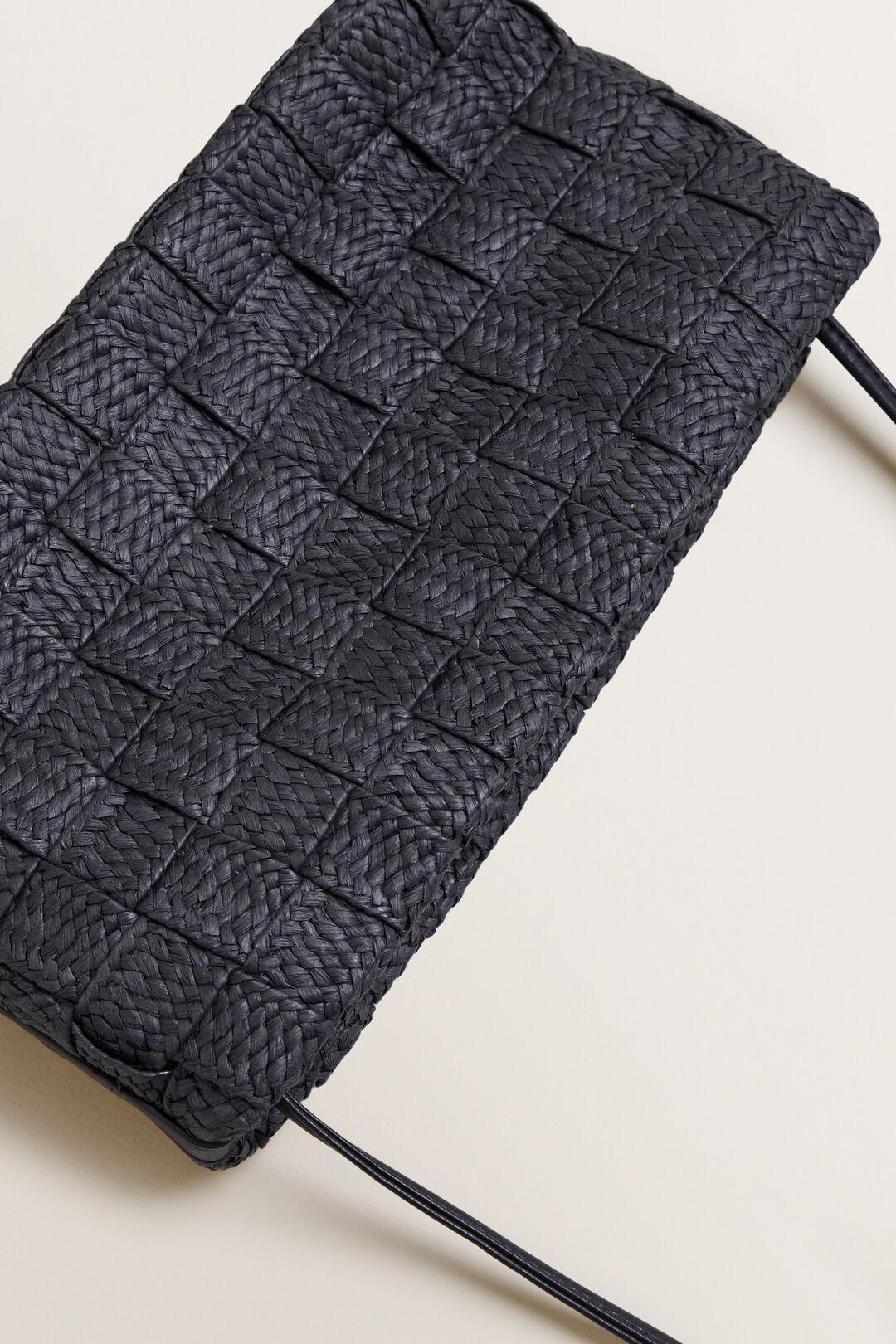 Weave Crossbody Sling  BLACK  hi-res