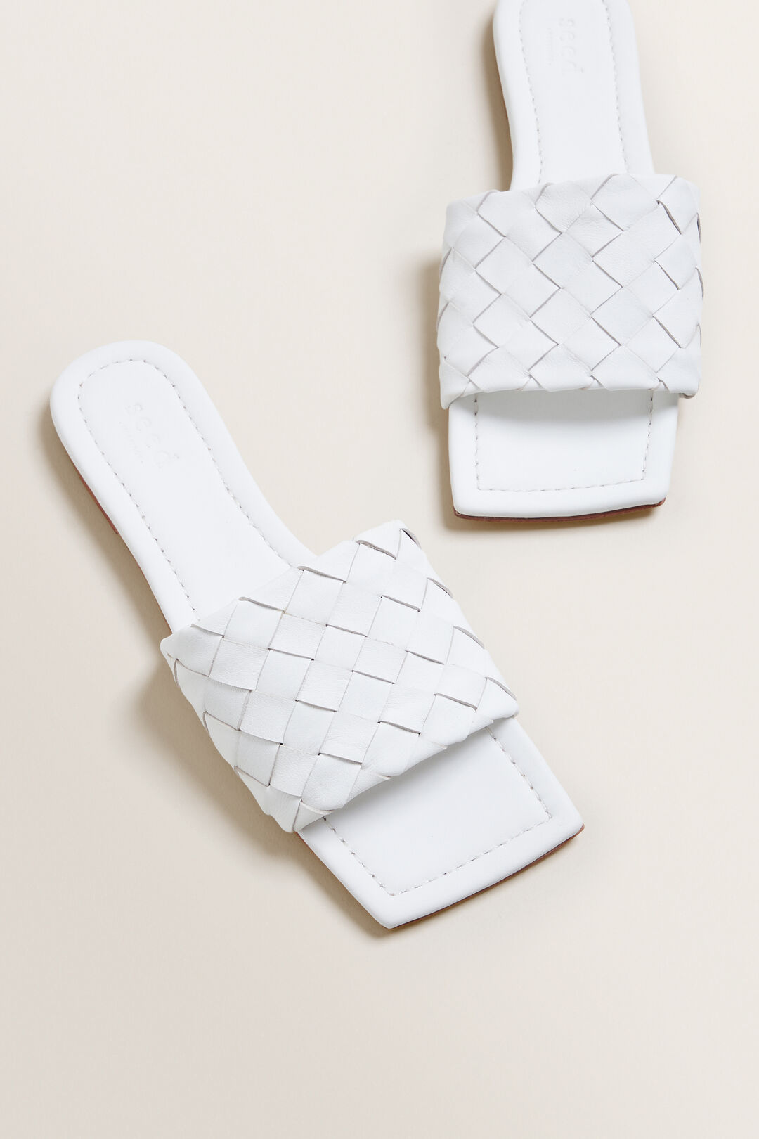 Amber Woven Flat  WHITE  hi-res