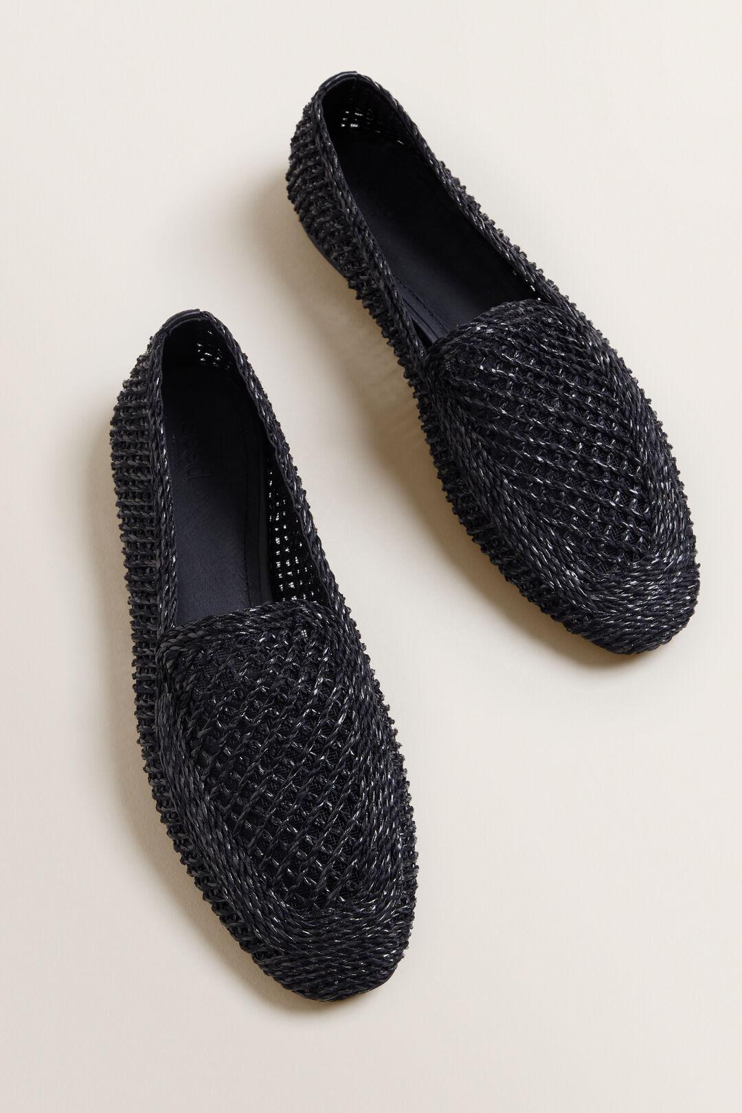 Raffia Loafer  BLACK  hi-res