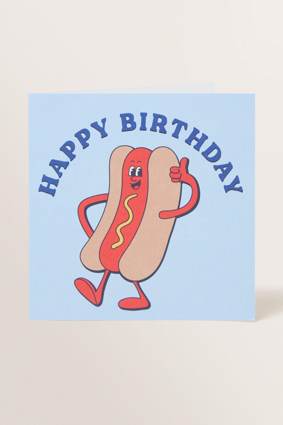 Large Happy Birthday Hotdog Card  MULTI  hi-res