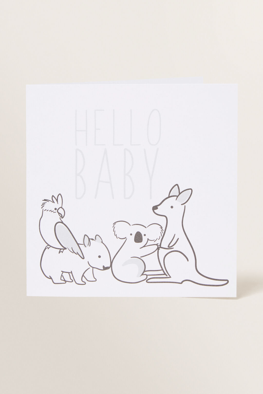 Large Hello Baby Card  MULTI  hi-res