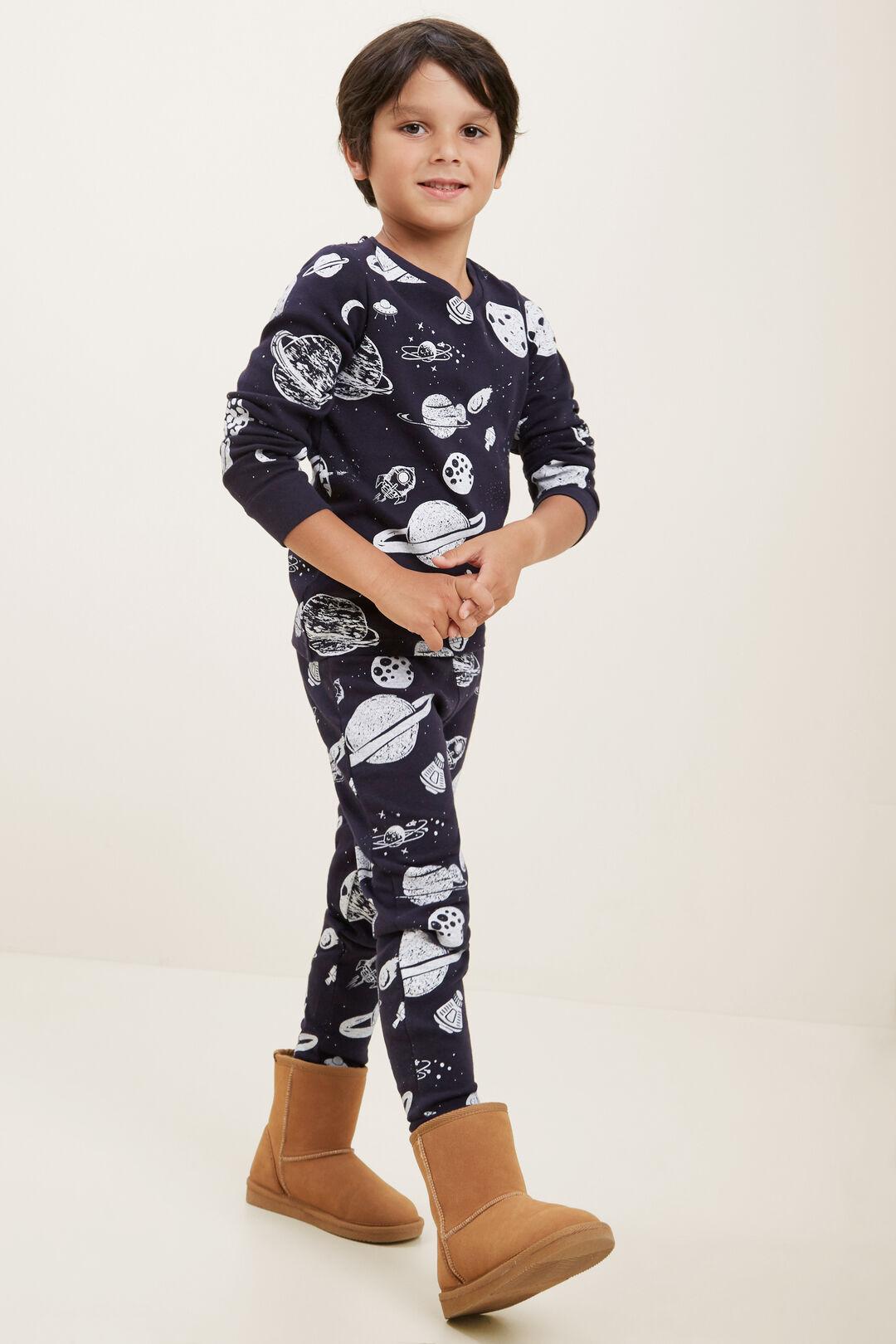 Space Long Sleeve Pyjamas  MIDNIGHT BLUE  hi-res