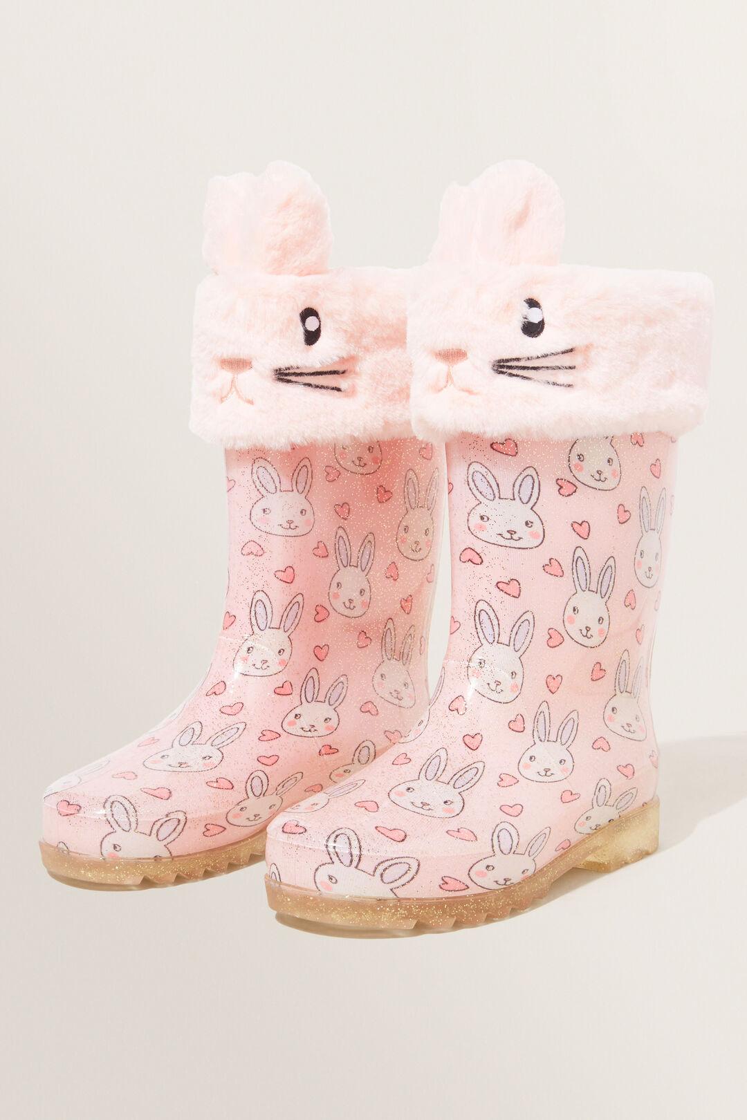 Bunny Gumboot Socks  DUSTY ROSE  hi-res