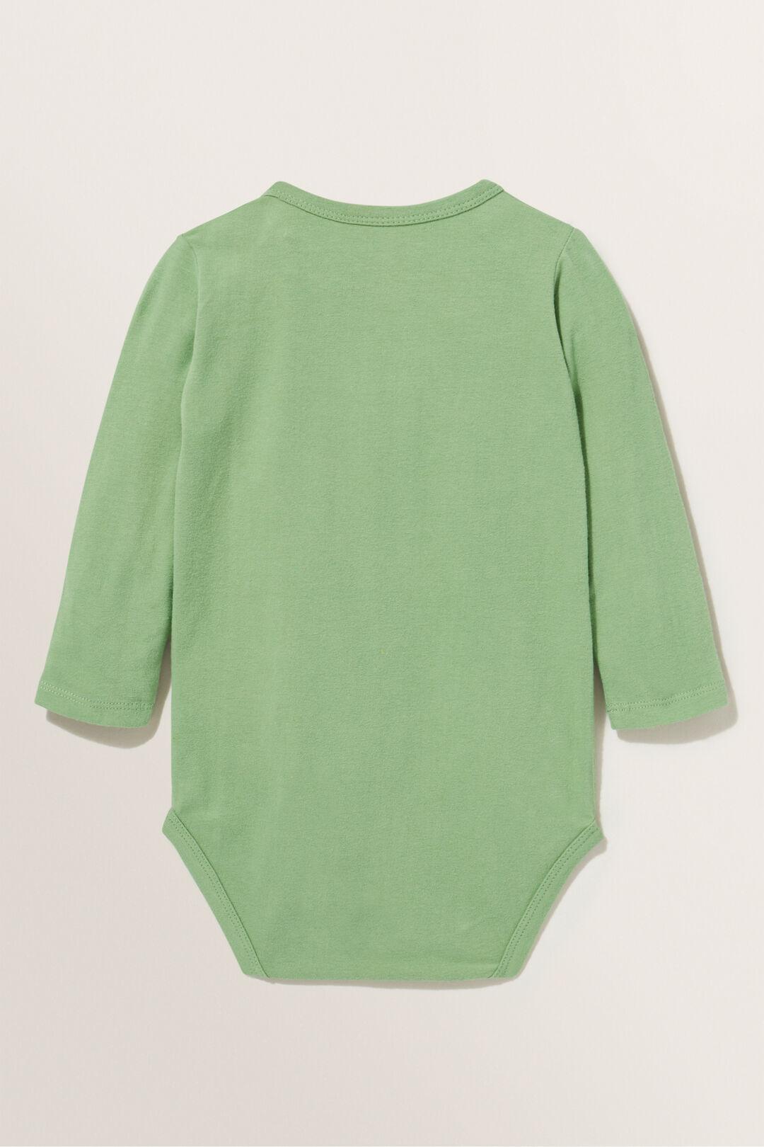 Basic Long Sleeve Bodysuit  SNAP PEA  hi-res