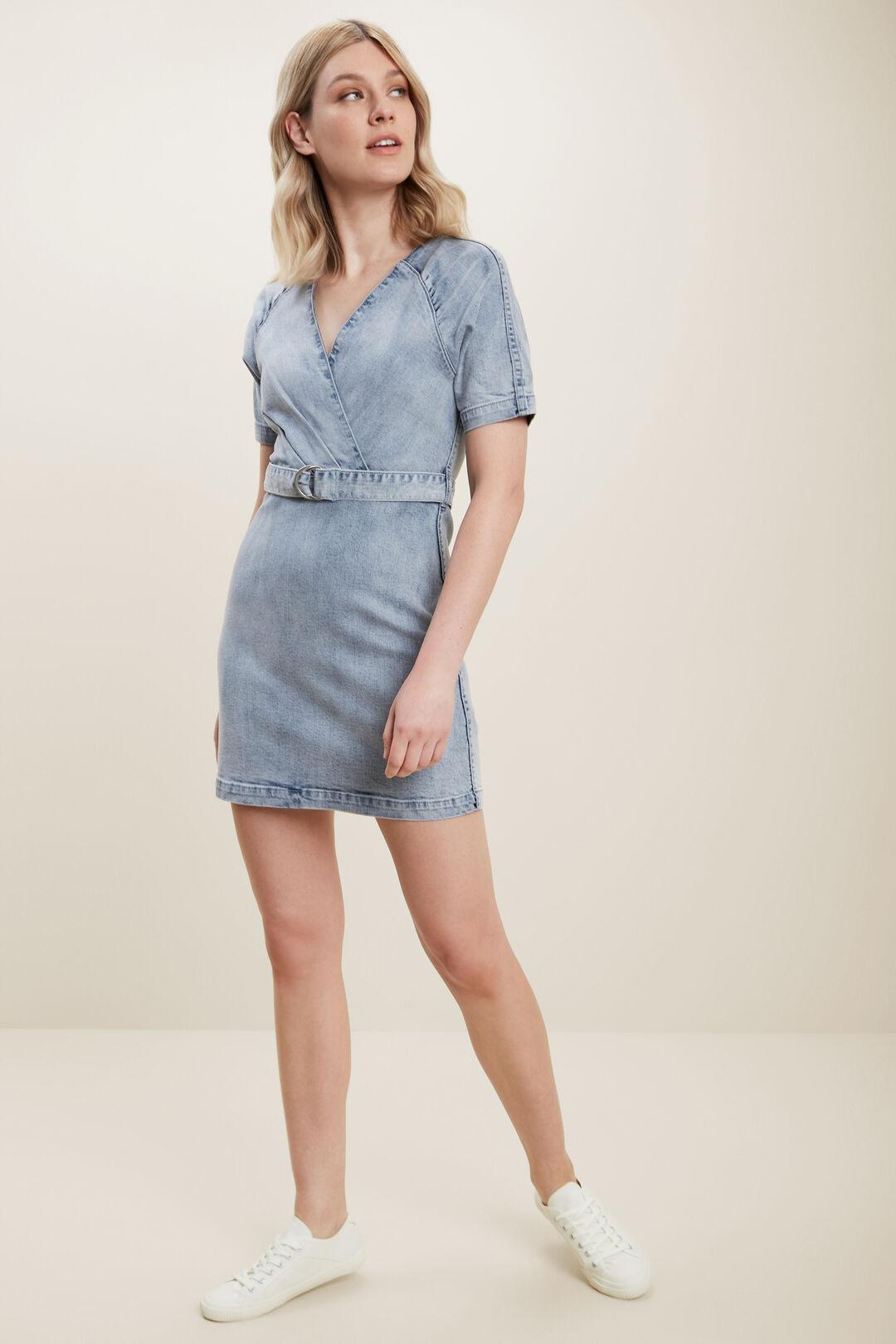 Denim Mini Dress  VINTAGE DENIM  hi-res