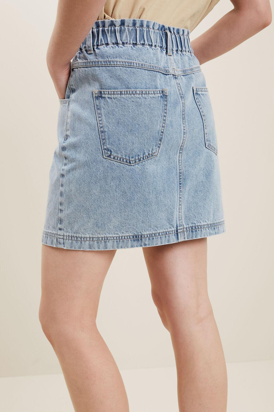 Paperbag Denim Skirt  VINTAGE DENIM  hi-res