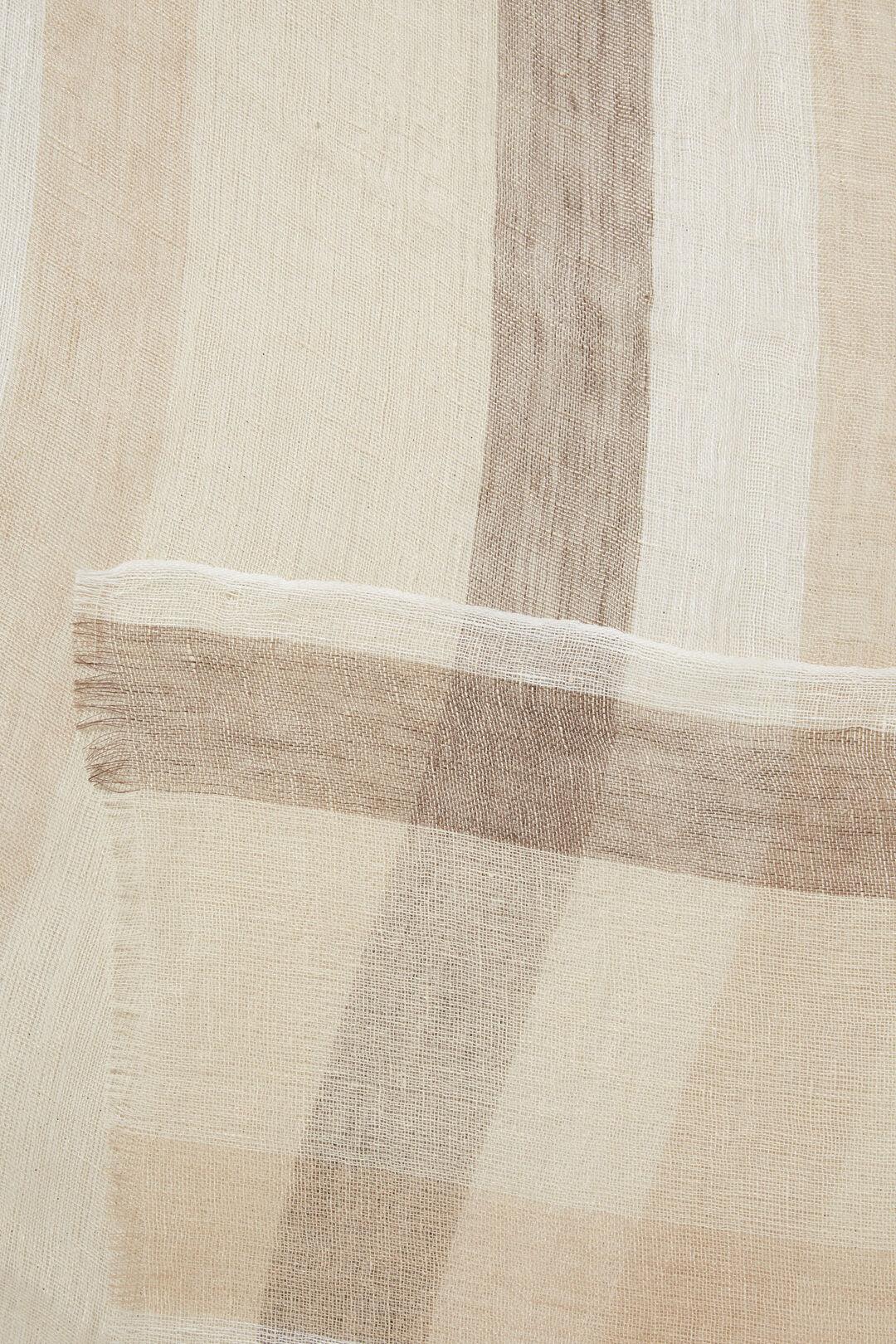 Linen Stripe Scarf  BISCOTTI STRIPE  hi-res