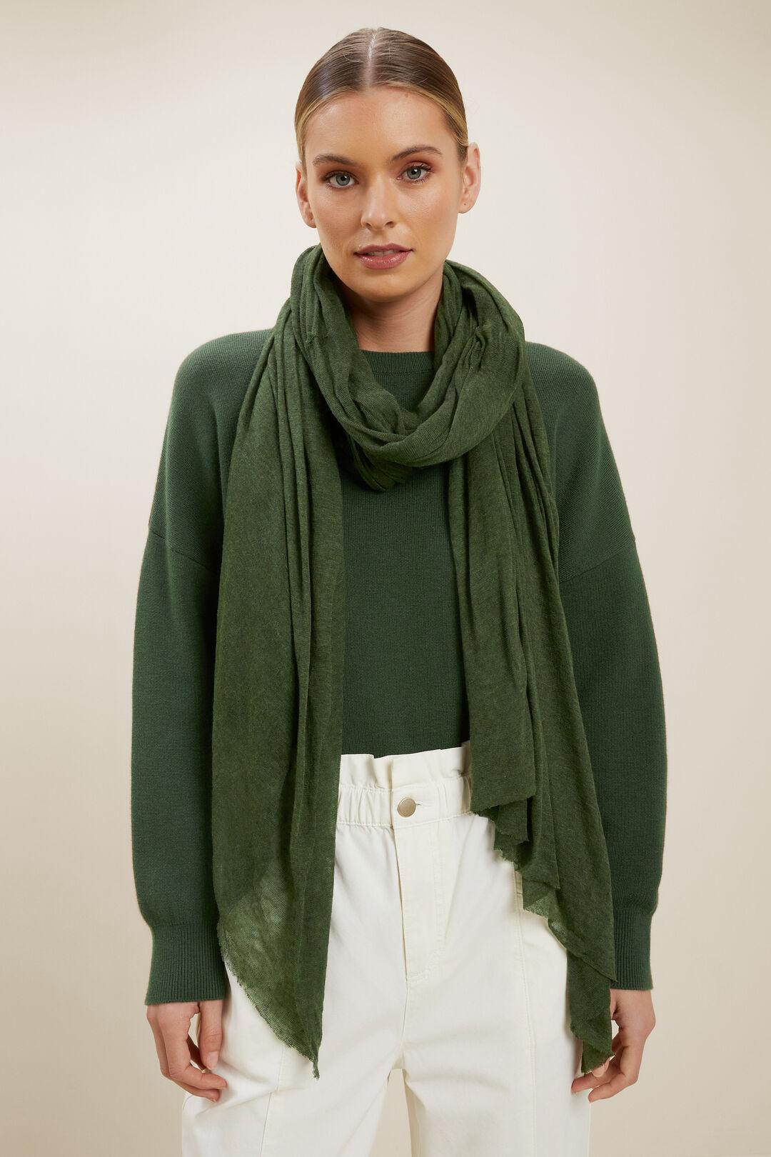 Fine Knit Wrap  BASIL  hi-res