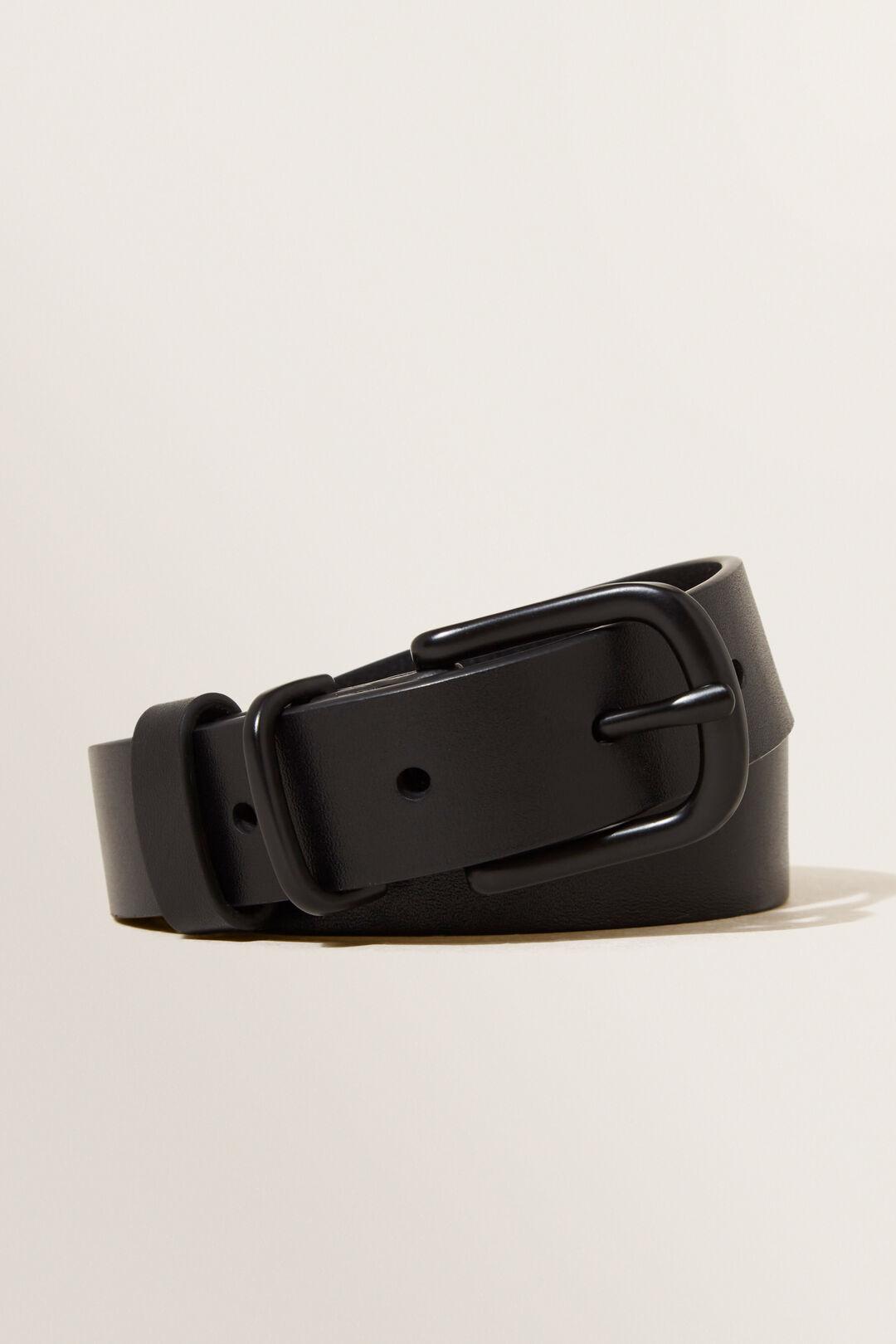 Classic Leather Belt  BLACK / BLACK  hi-res