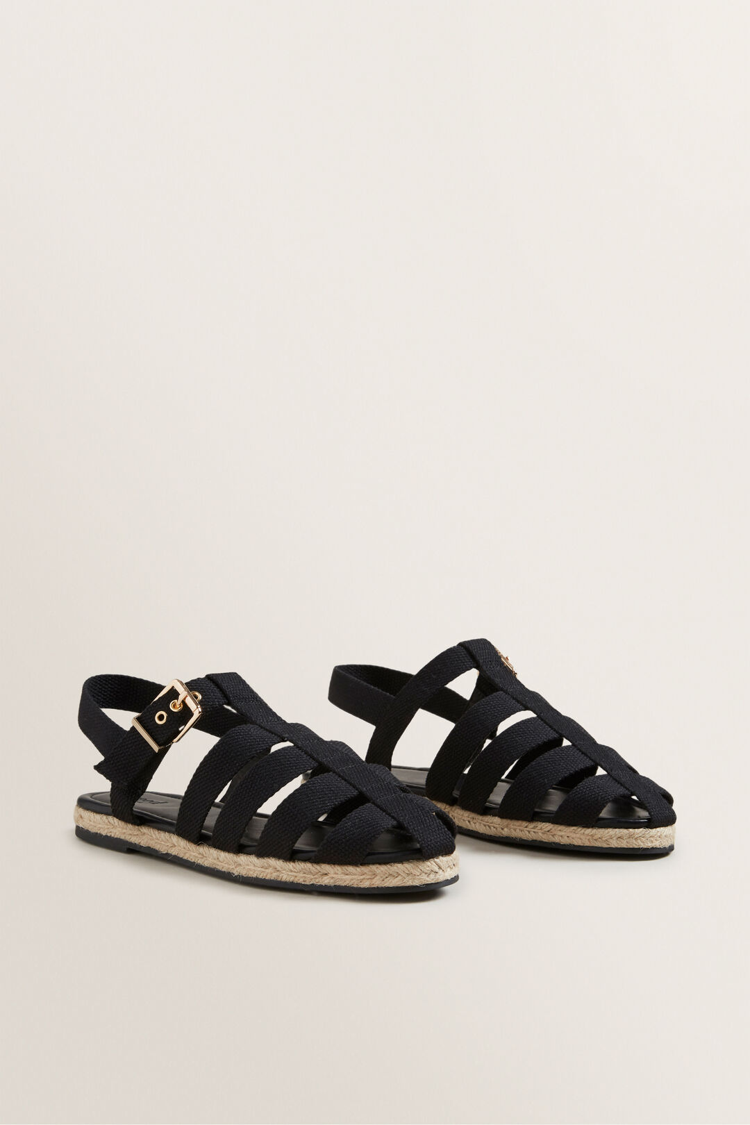 Lola Caged Sandal  BLACK  hi-res