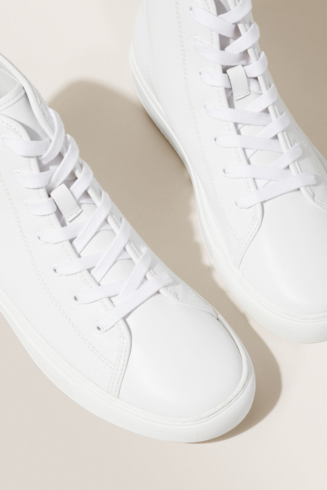 Allie High Top Sneaker  WHITE  hi-res