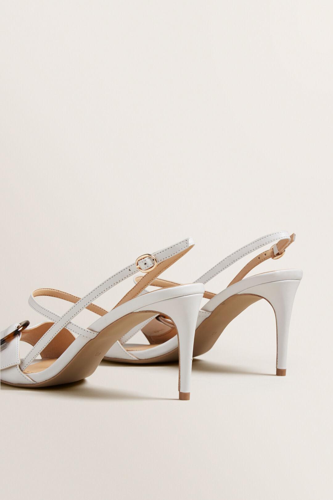 Bianca Buckle Heel  WHITE  hi-res