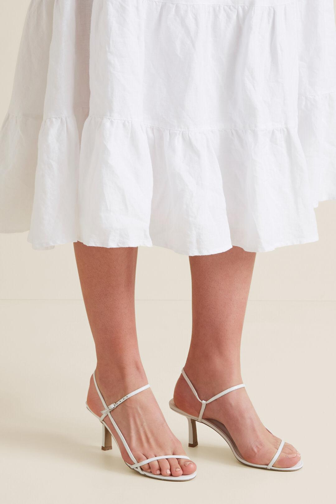 Ashley Heeled Sandal  WHITE  hi-res