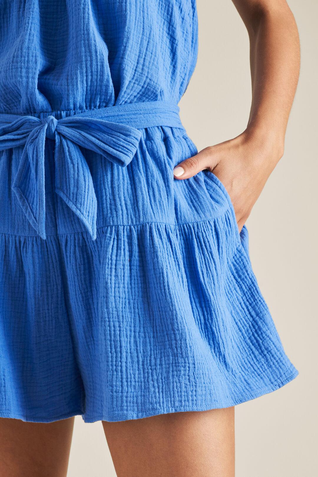 Cheesecloth Tie Short  AZURE  hi-res
