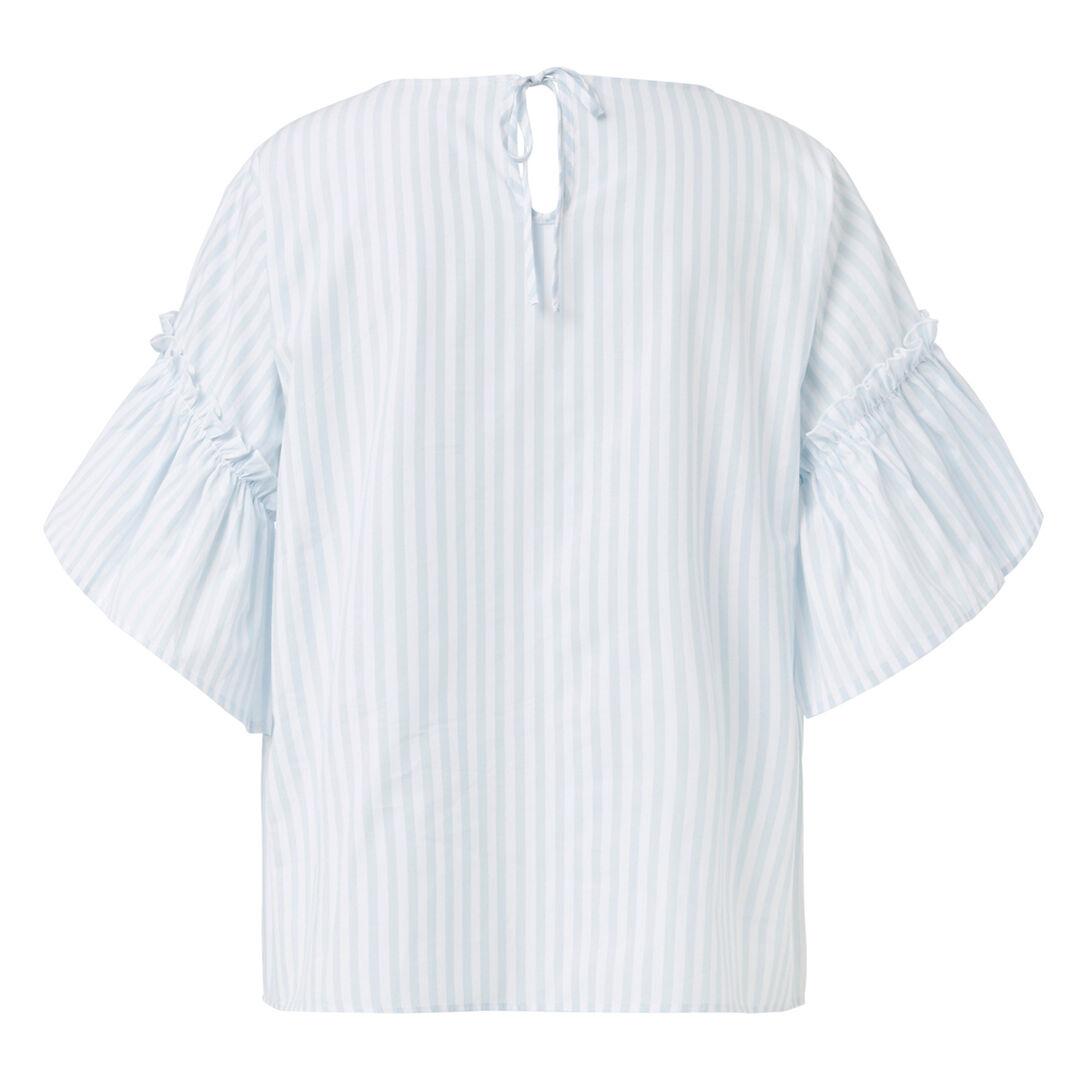 Stripe Frill Top  MIST BLUE/WHITE STRI  hi-res