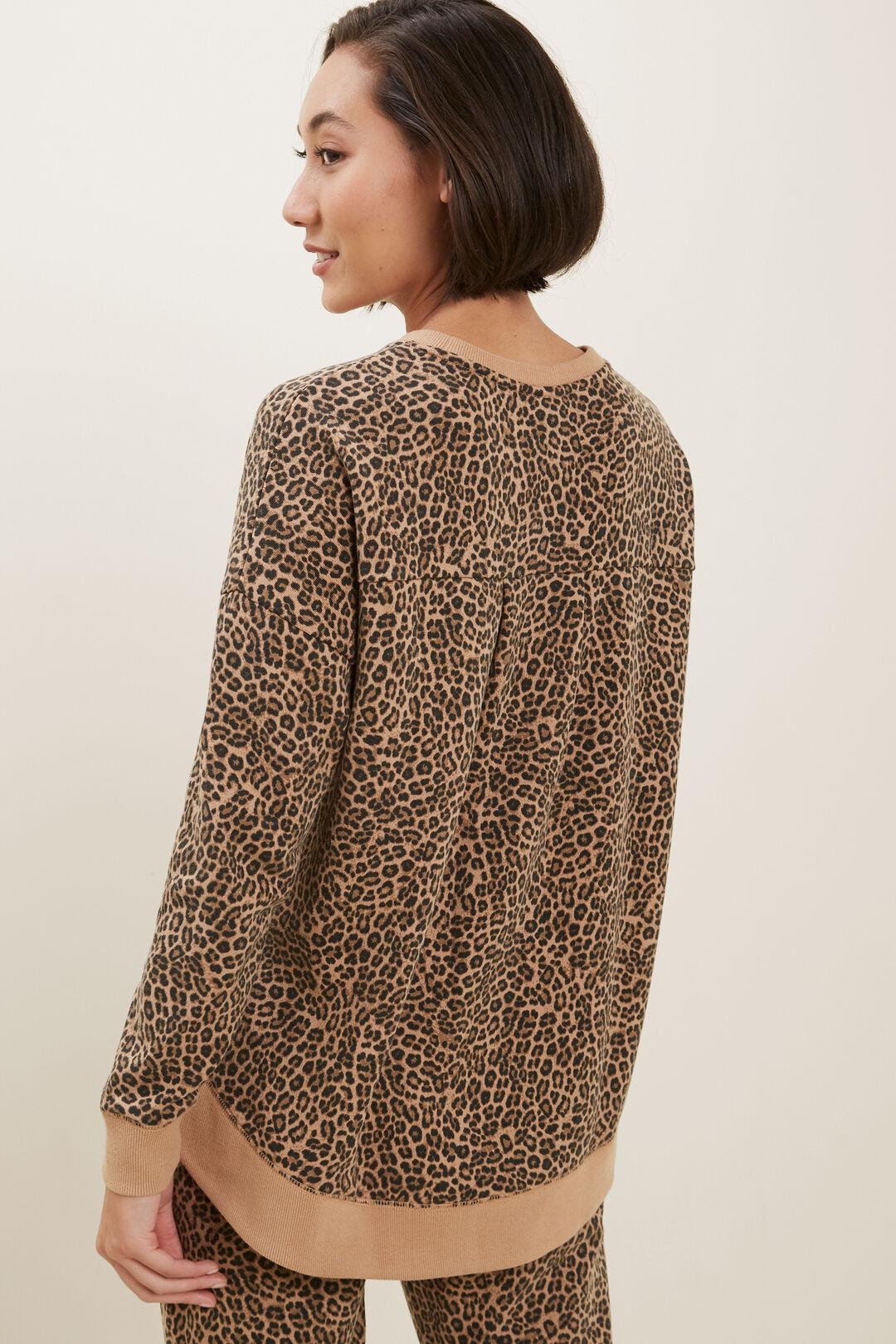 Animal Hi Low Sweater  LEOPARD  hi-res