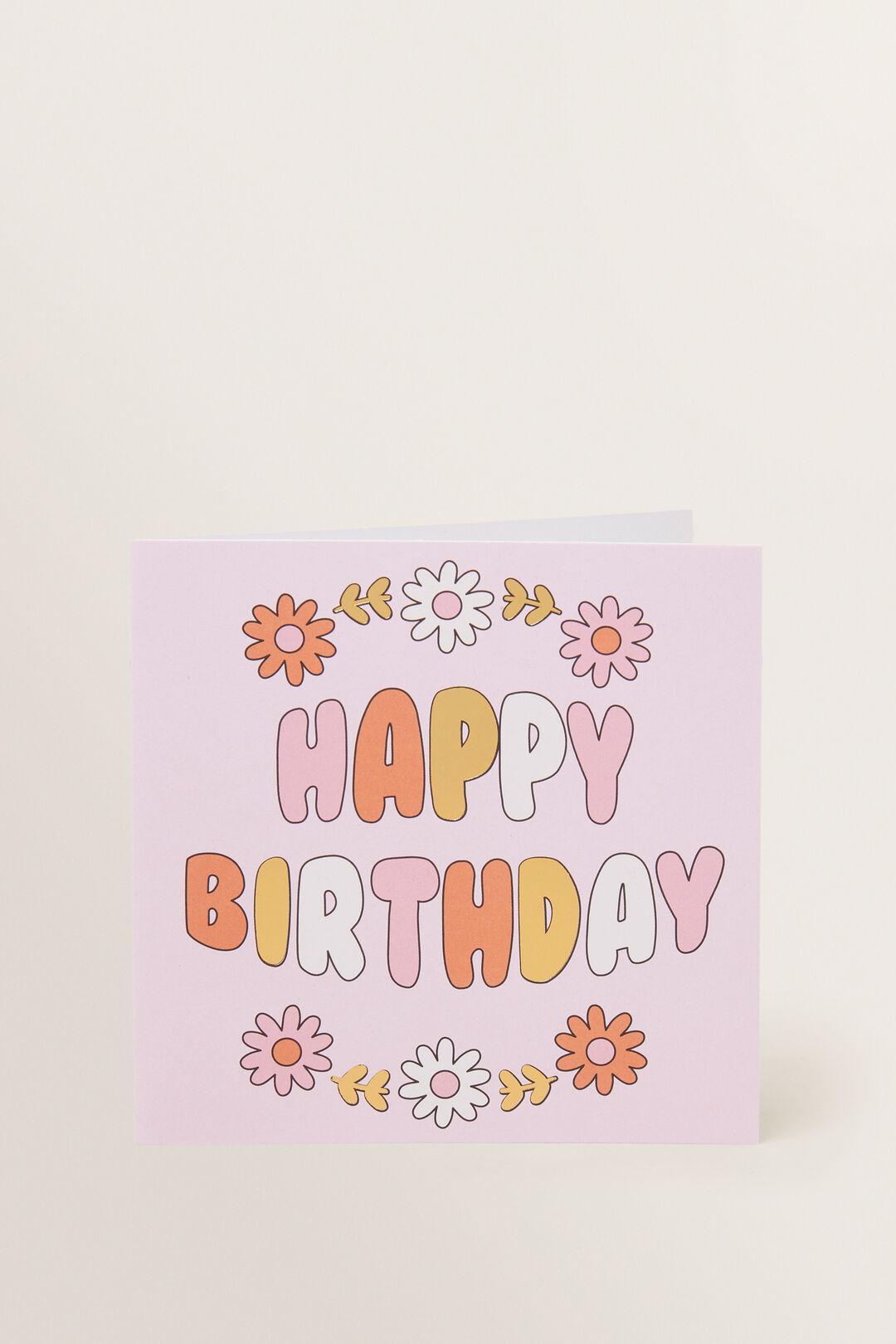Flower Happy Birthday Card  MULTI  hi-res