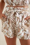 Palm Print Tie Short  PALM PRINT  hi-res