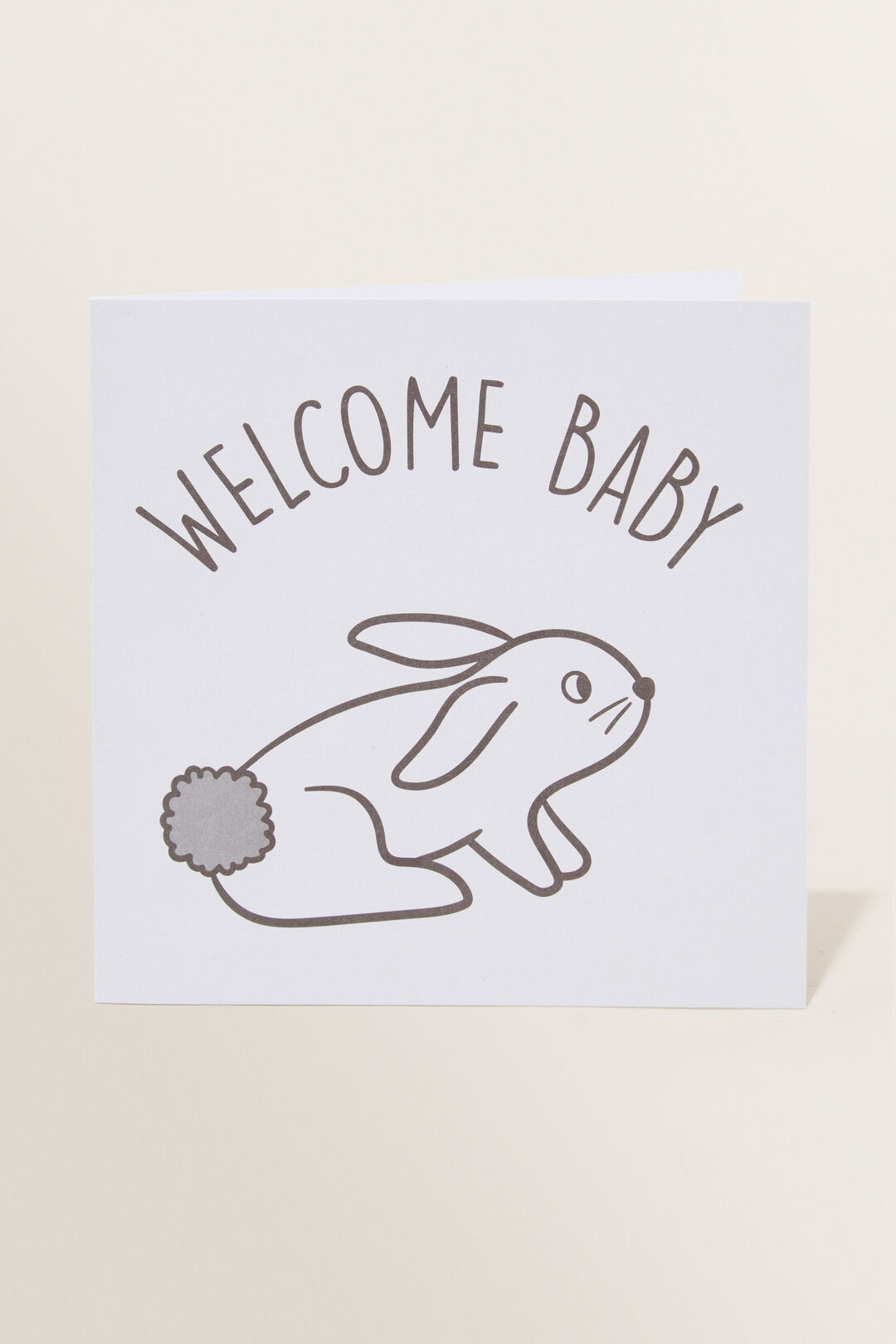 Large Welcome Baby Bunny Card  MULTI  hi-res
