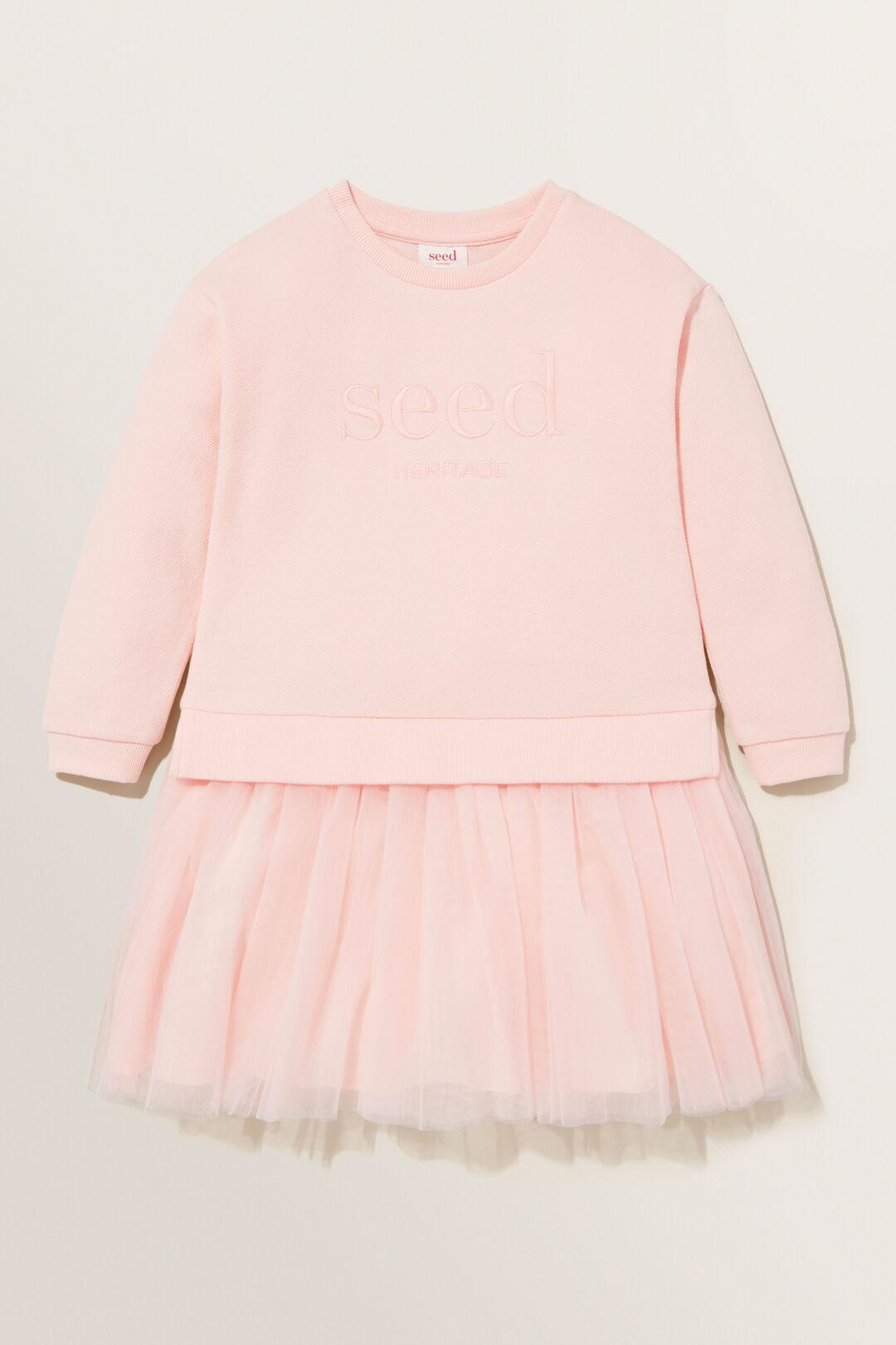 Spliced Tutu Dress  DUSTY ROSE  hi-res