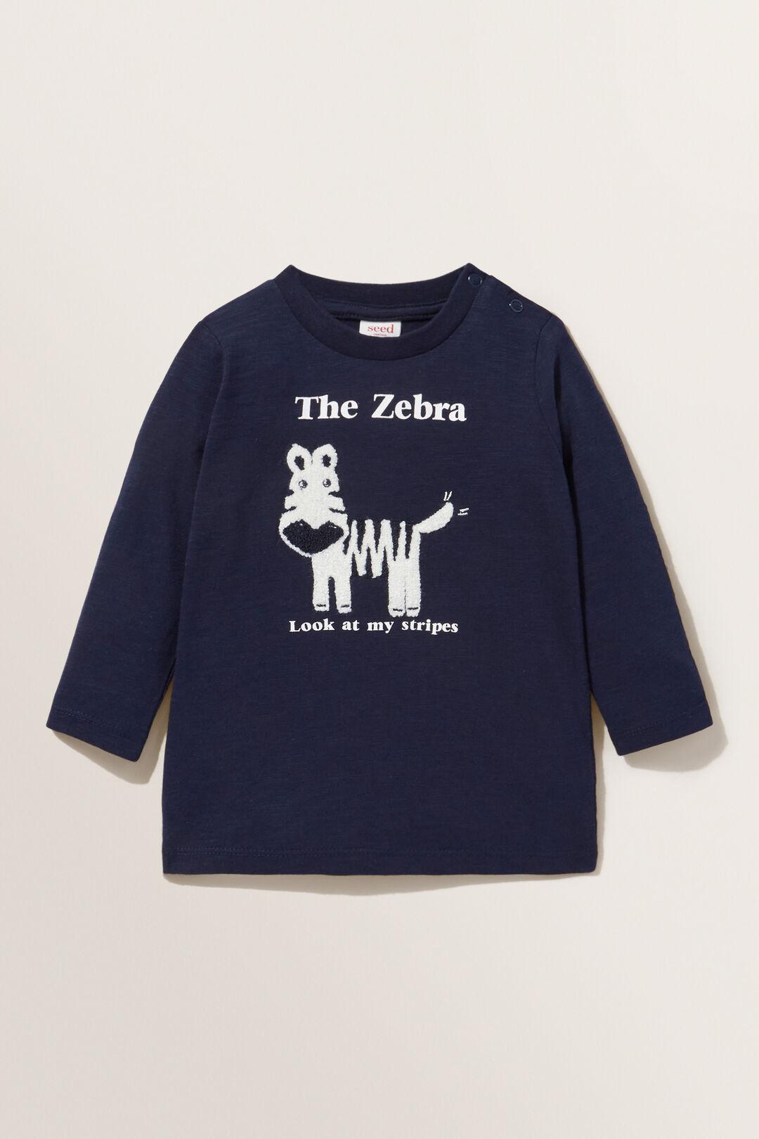 Zebra Long Sleeve Tee  MIDNIGHT BLUE  hi-res