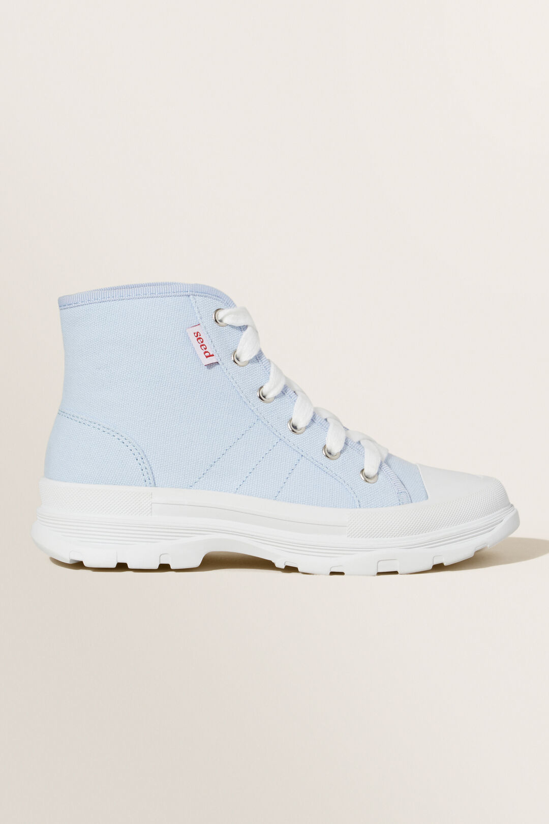 Chunky Sole Canvas High-Top  BABY BLUE  hi-res