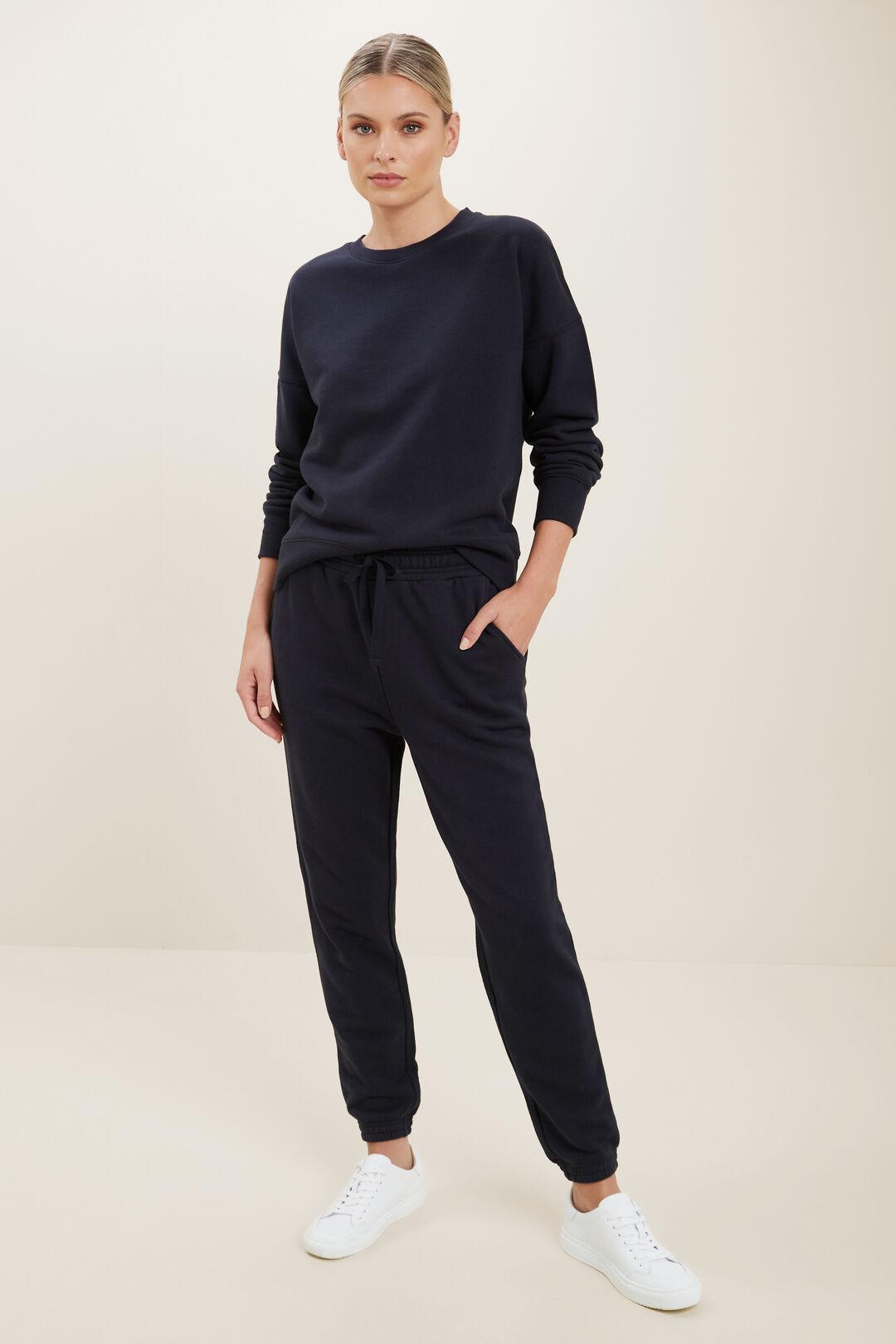 Basic Terry Sweater  DEEP NAVY  hi-res
