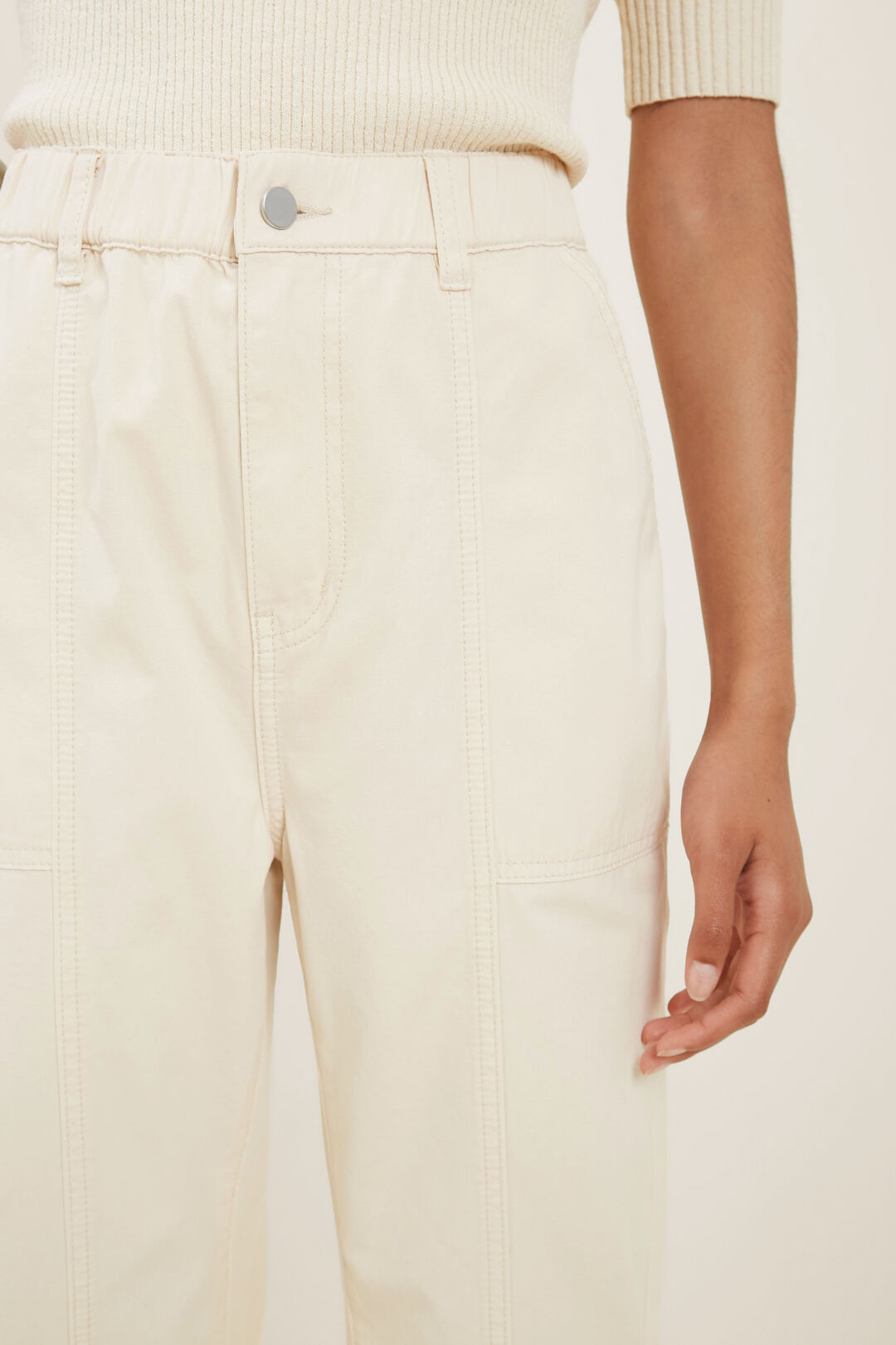 Elasticated Cotton Jogger  FRENCH BEIGE  hi-res