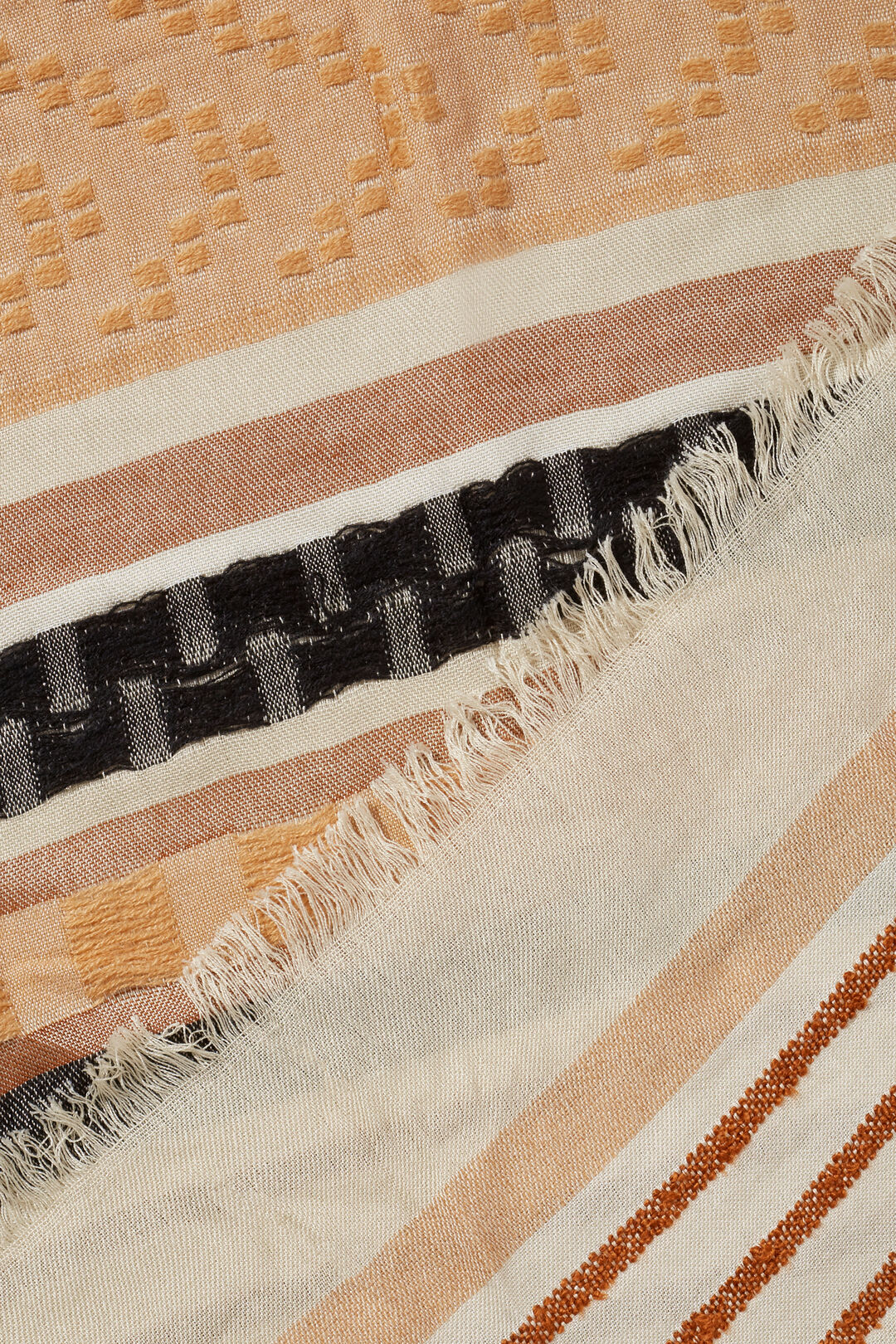 Stripe Scarf  BURNT BRONZE  hi-res