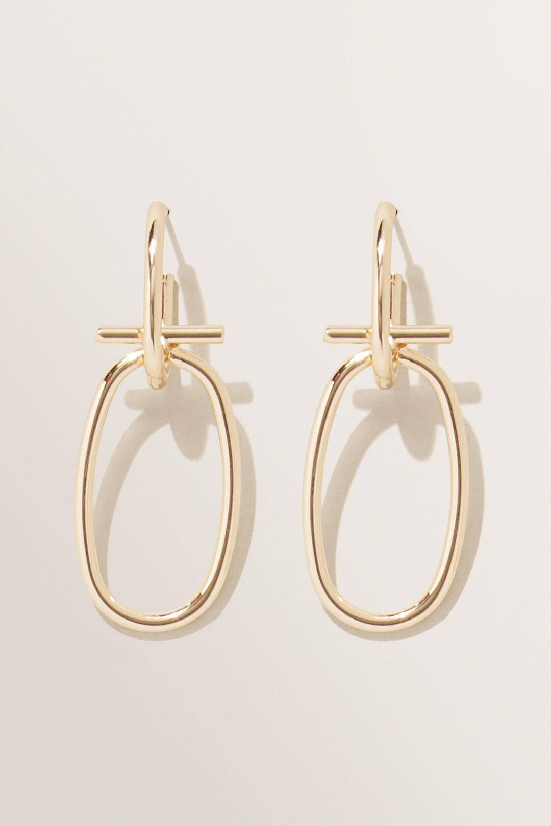 Interlocked Drop Earrings  GOLD  hi-res