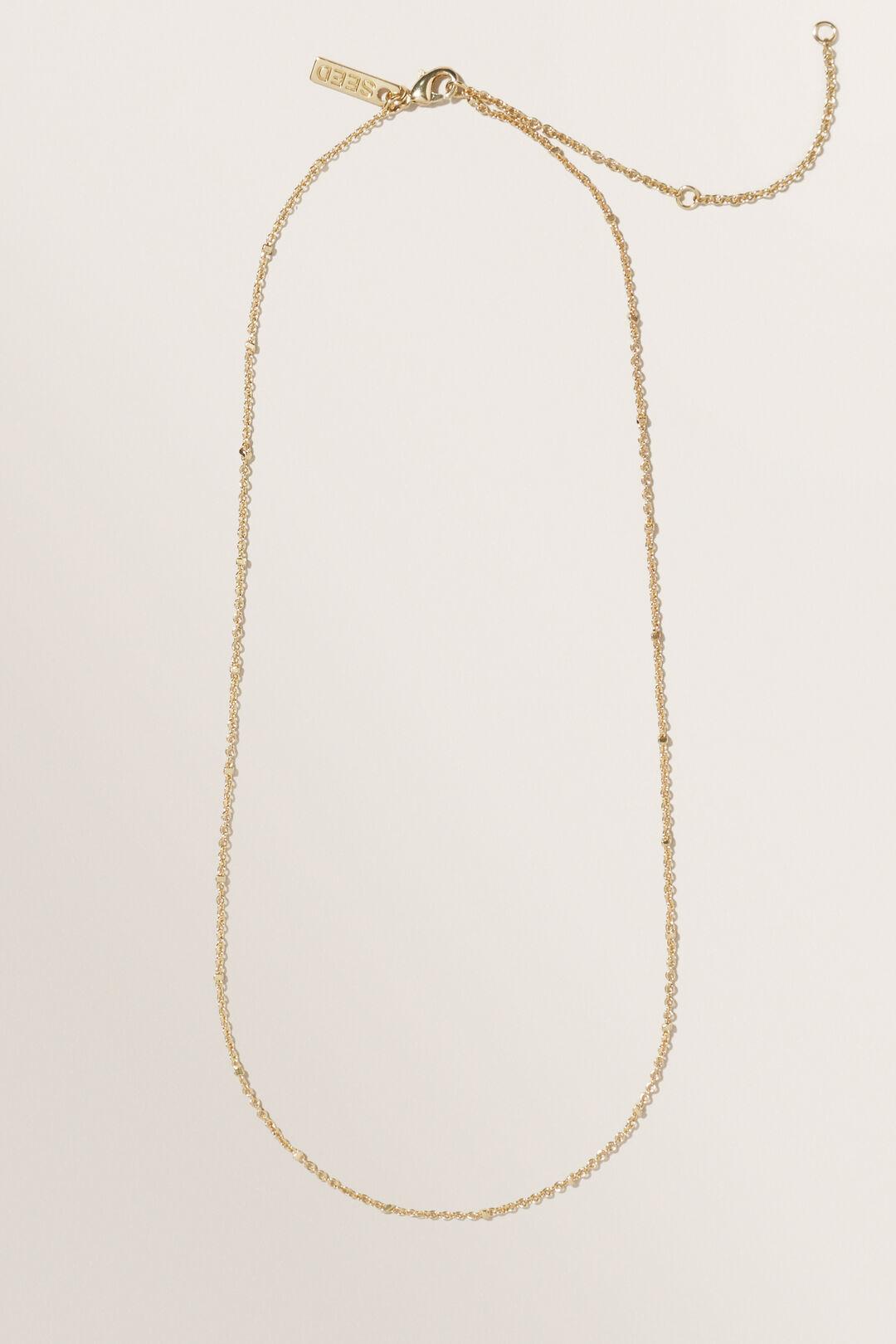 Fine Initial Necklace  GOLD  hi-res