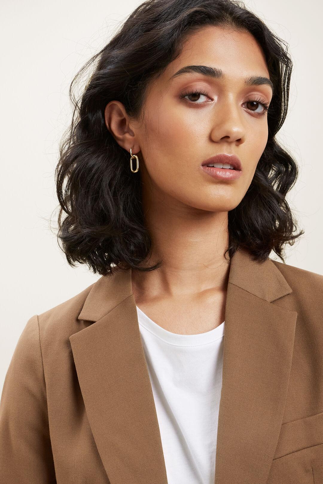 Fine Interlocked Huggie Earrings  GOLD  hi-res