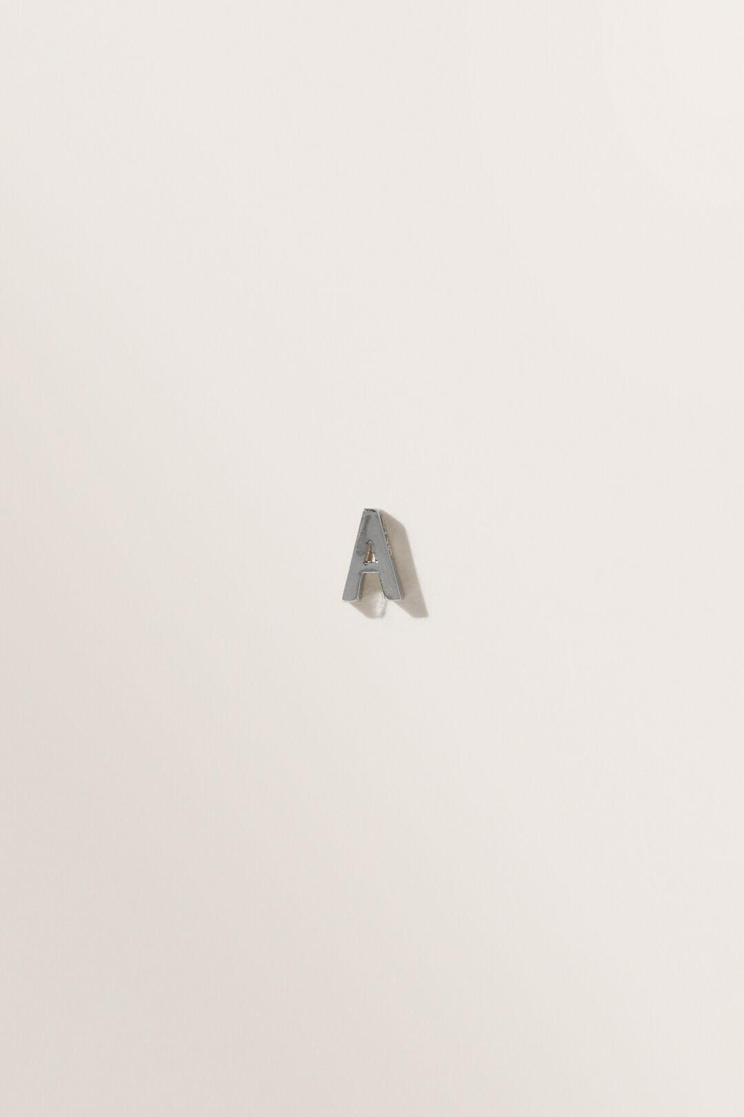 Silver Initial Charm  A  hi-res