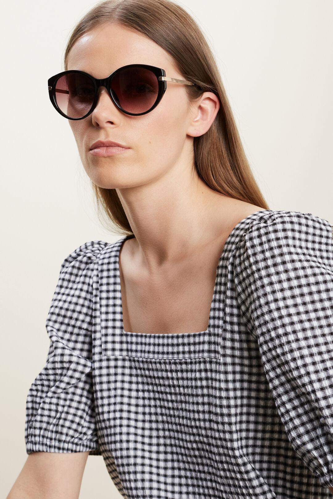 Amy Round Sunglasses  BLACK  hi-res