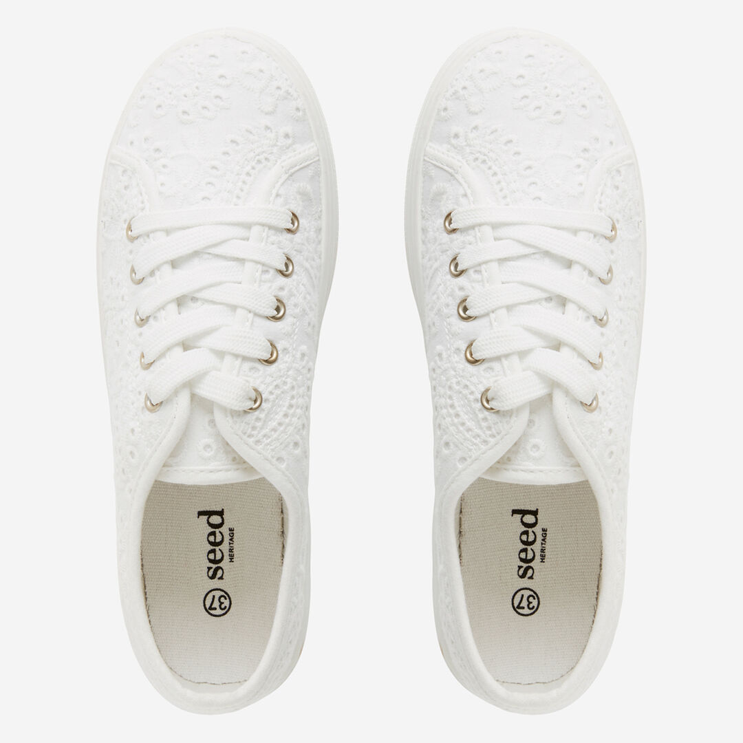 Billie Flatform Sneaker  WHITE BROIDERY  hi-res
