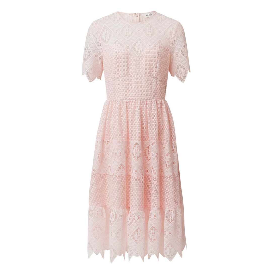 Tier Lace Dress  PINK BLUSH  hi-res