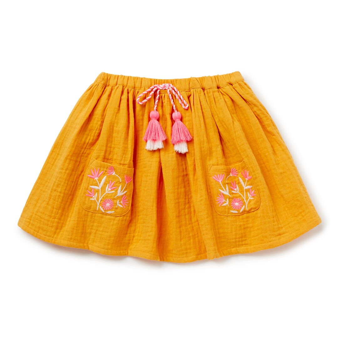 Embroidered Skirt  MUSTARD SEED  hi-res