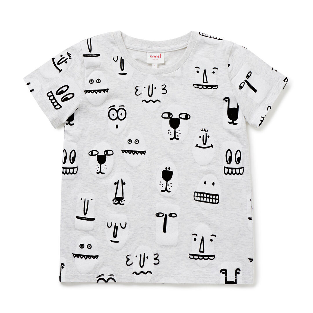 Funny Faces Tee  FROST MARLE  hi-res