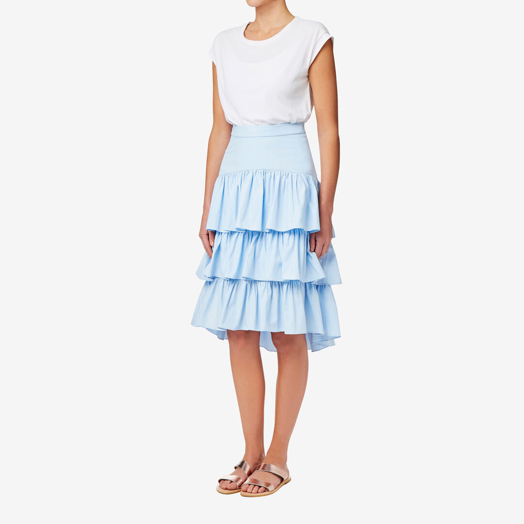 Tiered Frill Skirt  GLACIER BLUE  hi-res