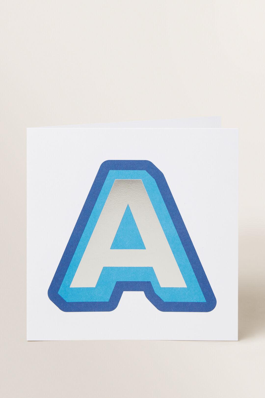 Large Blue Letter Card  A  hi-res