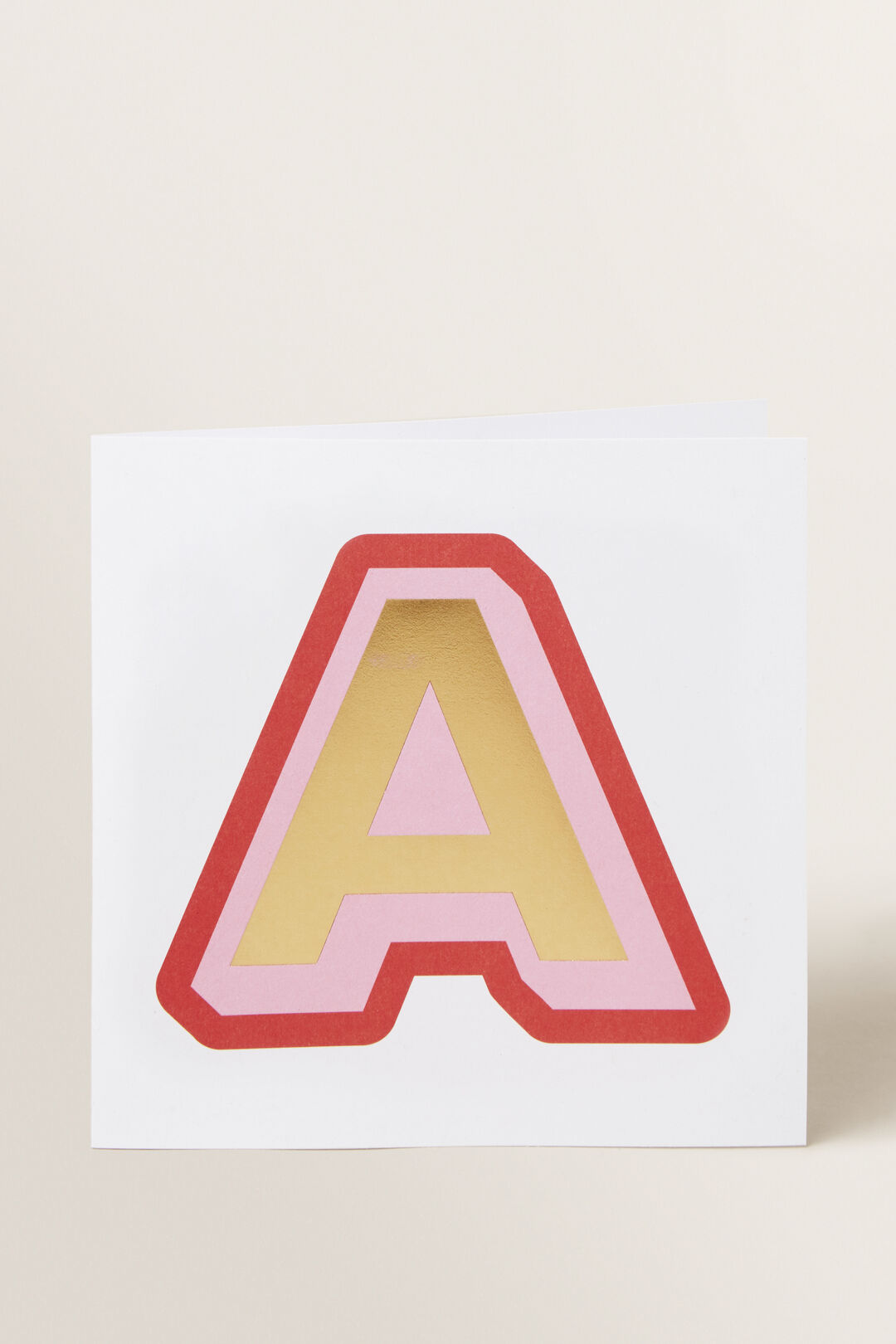 Large Red Letter Card  A  hi-res