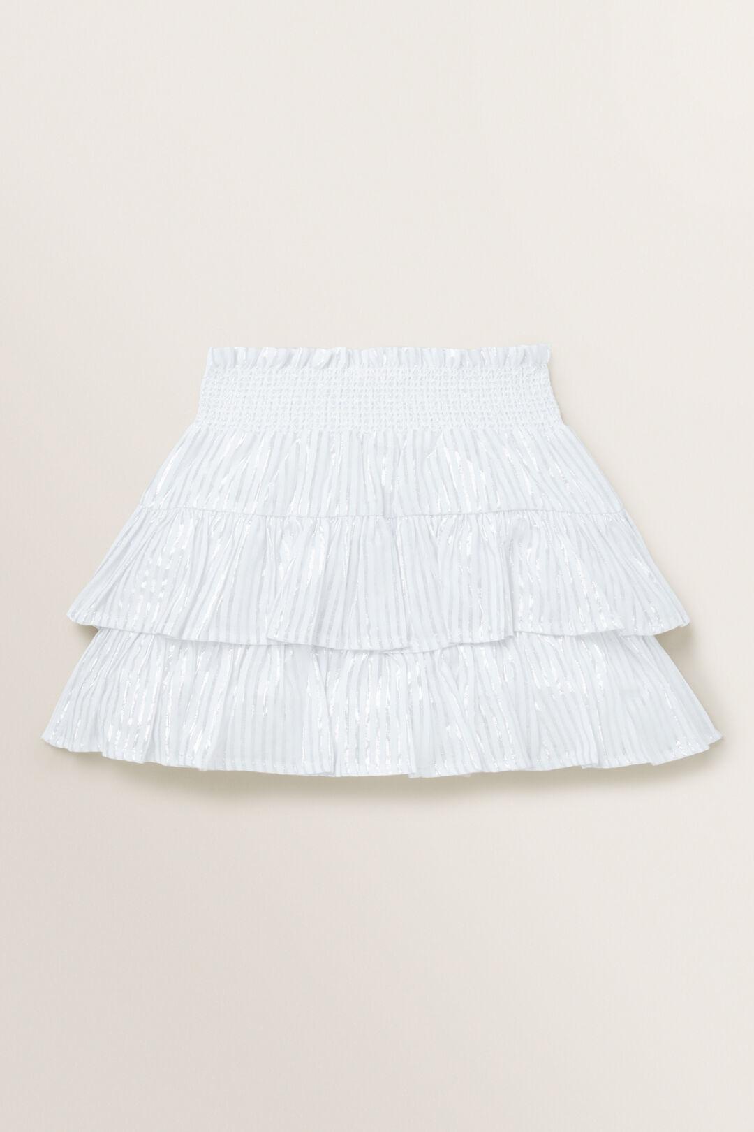 Metallic Skirt  WHITE/SILVER  hi-res