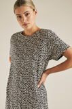 Animal Print Tee Dress  ZEBRA  hi-res