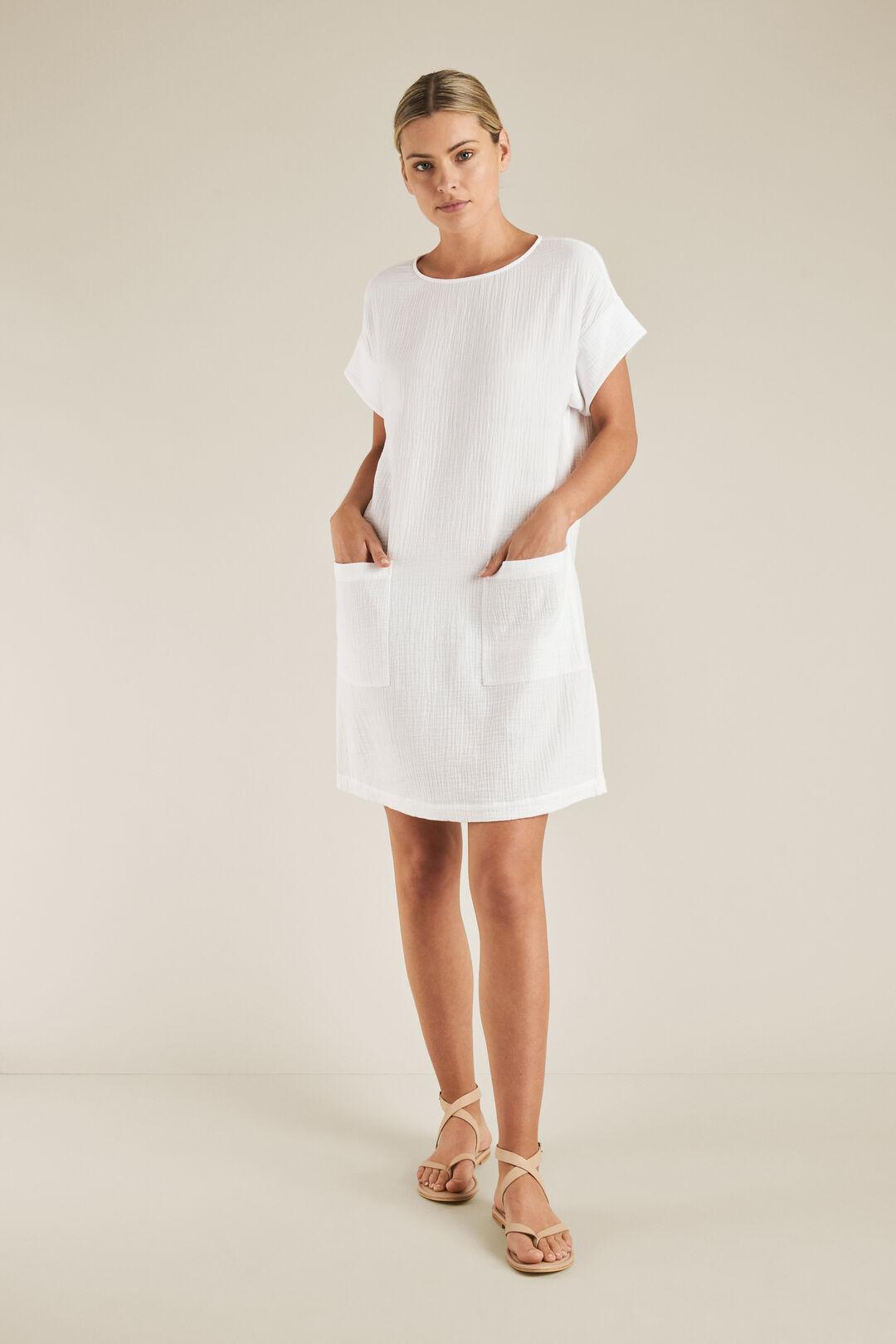 Cheesecloth Shift Dress  WHISPER WHITE  hi-res