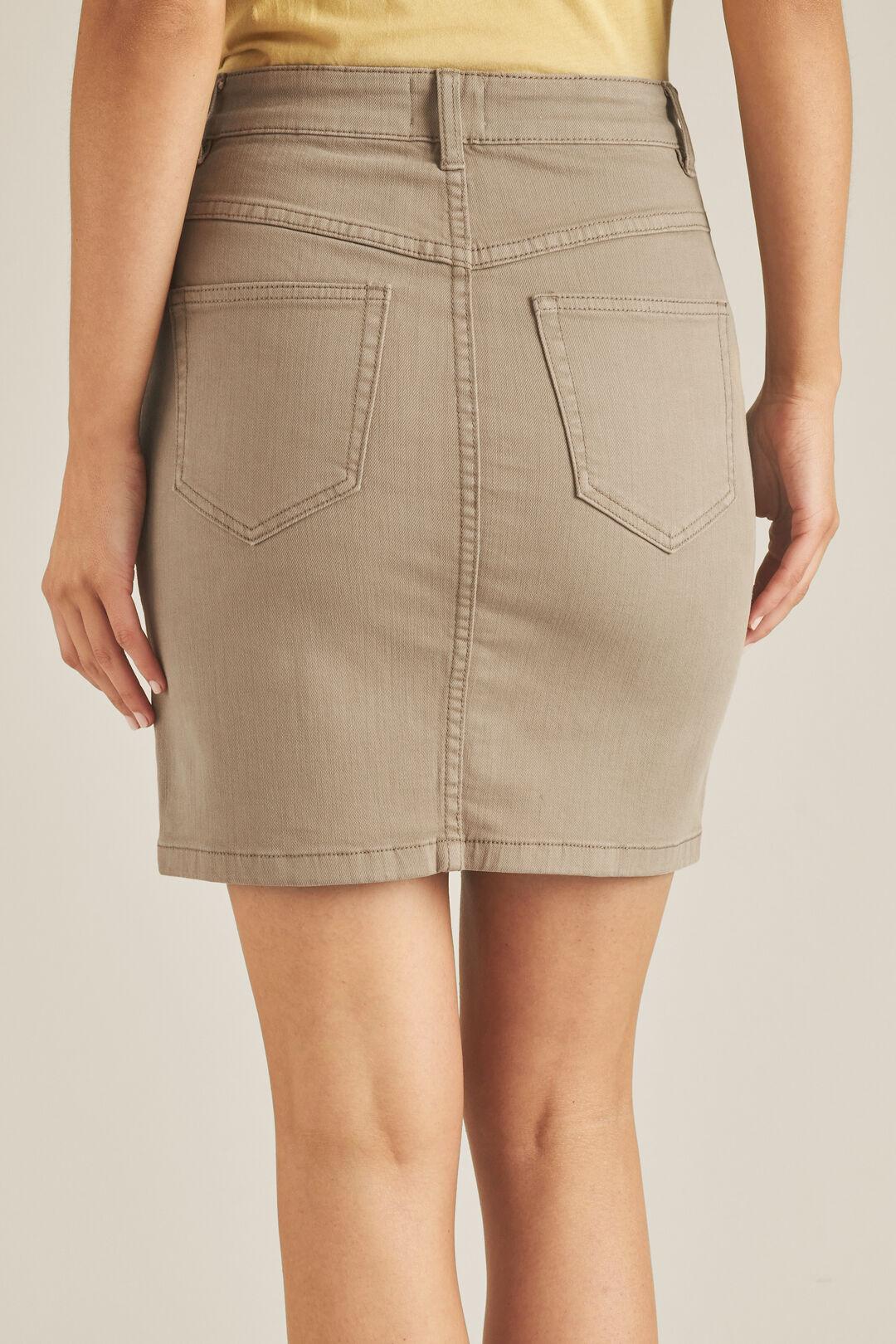Denim Pintuck Pocket Skirt  DONKEY  hi-res