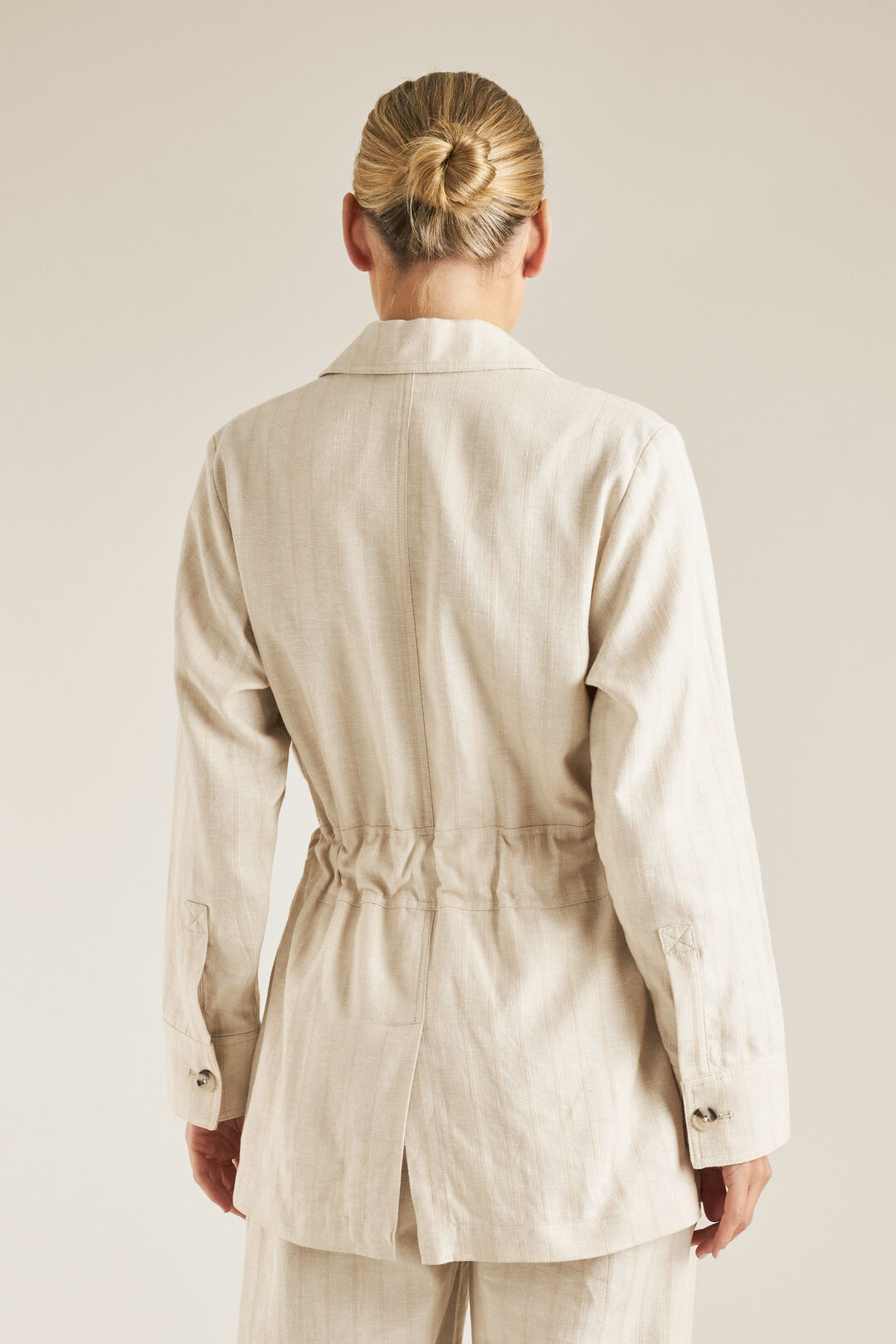 Self Stripe Jacket  SAND BEIGE  hi-res