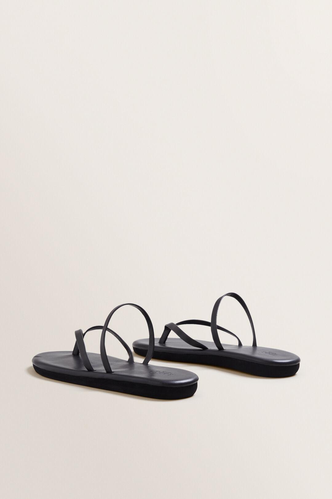 Sam Leather Thong  BLACK  hi-res